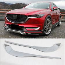 fit for Mazda CX-5 2017-2019 Chrome Front Fog Light Lamp Eyebrow Eyelid Trim