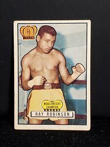 1951 TOPPS RINGSIDE #43 RAY ROBINSON BOXING CARD (SET BREAK)