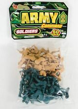 "Toy Soldiers Ja-Ru Army Command Plastic 2"" Toy Military Men NIP Pack of 50"