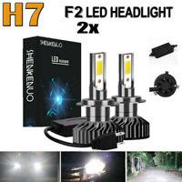 2x H7 LED Scheinwerfer Birne Fern Abblendlicht 6000K Weiß Lampen VS Xenon