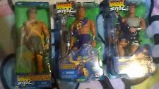3 X Max Steel action figures, Amazon Blaster, Python Fighter, Mountain Climber