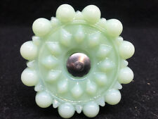 Jadeite glass Drawer pull furniture hardware Victorian knob door Green milk Jade
