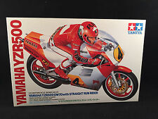 Tamiya Yamaha YZR500 (OW70) with Straight Run Rider 1:12 Scale Kit 1443 Open Box