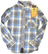 NZA New Zealand Auckland ●● Hemd Jungen Gr. 128  8 Jahre kariert Neu mit Etikett