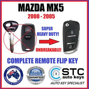 MAZDA MX5 MX 5 COMPLETE REMOTE FLIP KEY FOB 8C TRANSPONDER CHIP 2000 - 2005