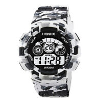Mode Herren Jungen Digital Analog Quarz Alarm Datum Sport Freizeit Armbanduhr