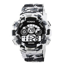 Fashion Mens Boys Digital LED Analog Quartz Alarm Date Sports Casual Wrist Watch