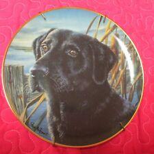 "Franklin Mint Man'S Best Friend Black Lab 8"" Plate Limited Edition"