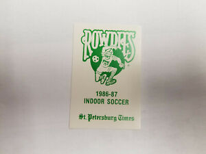 Tampa Bay Rowdies 1986/87 AISA Indoor Soccer Pocket Schedule Card - Pete Times