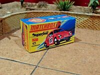 MATCHBOX SUPERFAST NO.15A VOLKSWAGEN 1500CUSTOM REPLACEMENT DISPLAY BOX ONLY