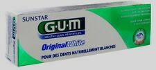 GUM  Dental Toothpaste Original White less plaque rebuilds natural white teeth