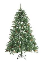 Künstlicher Weihnachtsbaum Tannenbaum Christbaum Fichte 150cm Zapfen Schnee Look