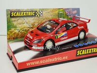 """Slot Car Scx Scalextric Peugeot 307 2º Rally Litro Di Scalextric """" Firmato """""""