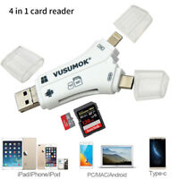 USB Flash Drive SD TF Card Reader for iPhone X 8 7 6 5 s Plus iPad OTG Android