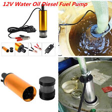 12V 38mm Golden Submersible Pumps Water Oil Fuel Transfer Refueling Detachable