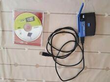 Linksys Wireless-B USB Network Adapter WUSB11 - 2.4ghz power lead & disk