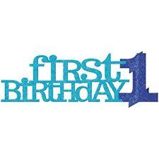 Amscan ersten Geburtstag Glitzer blau Mittelpunkt