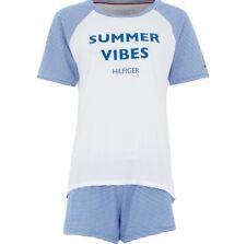 TOMMY HILFIGER Blue & White Striped Pyjamas BNWT RRP £50