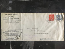 1941 Batavia Netherlands Indies Censored Cover to USA Consul Diplomatic mail