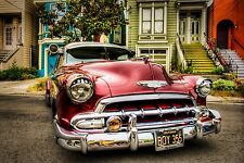 """Classic chevy chevrolet 1952 lowriders cars Mini Poster 24"""" x 16"""""""