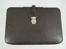 Vintage Dopp Style Kit Bag Top Grain Leather Shave Toiletry For Men