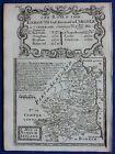 NORTHUMBERLAND, original antique map from 'Britannia Depicta', E. Bowen, 1759