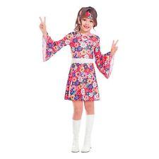 Girls Miss 1960s 70s Flower Power Groovy Go Fancy Dress Party Costume Kids Book
