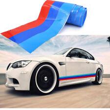 1m For BMW Car M Sport Tech 3 Color Stripes Sticker Vinyl Decal Badge Emblem