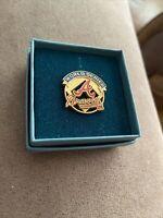 1992 World Series Atlanta Braves MLB Press Pin w/Box