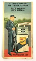 Atlantic Refining Company Vintage old Road Map Oil Gas Advertising Ephemera