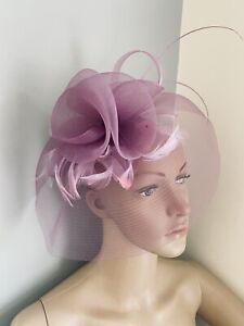 Lavender Purple Headband Fascinator wedding ladies race day hair Accessories