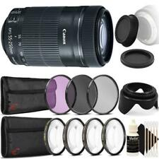 Canon EF-S 55-250mm F4-5.6 IS STM Lens & Top Accessory Kit for Canon SLR Cameras
