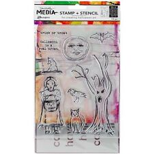 Ranger Dina Wakley Media Clear Stamps & Stencil Set - 200452