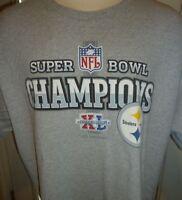 Vintage NFL Reebok Pittsburgh Steelers Super Bowl XL Champions TShirt Size XL