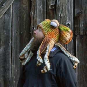 Adult Octopus Tentacle Hat Hand-Woven Knitted Octopus Hat for Halloween Gift