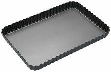 Masterclass Non-Stick Loose Base Fluted Rectangular Flan / Quiche Tin