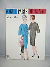 Christian Dior VOGUE PARIS ORIGINAL PATTERN 1012  Suit & Blouse Sz 10 with Label