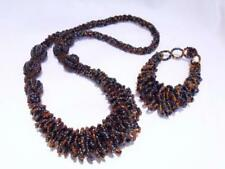 Glass Amber Round Costume Necklaces & Pendants