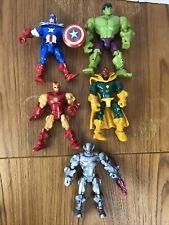 5 Marvel Super Hero Mashers Lot - Iron Man, Ant Man, Hulk, Captain America, Etc