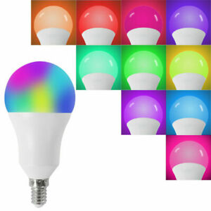 LED Wifi APP Smart Light Bulb 7W Dimmable RGB+W Lamp E14 For Alexa Google Home