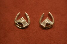 Equestrian Silver Earrings Horse & Horseshoes Jewellery