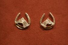 Equestrian Silver Earrings Horse & Horseshoes Jewellery