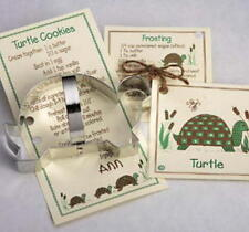 New listing Sale! Ann Clark Turtle Tin Plated Steel Cookie Cutter w/Recipes Usa