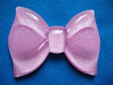5 Large Glitter Resin Hair Bow Flatback-Pink B175