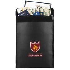 MoKo Fire & Water Resistant Cash & Envelope Holder Fireproof Money Document Bag