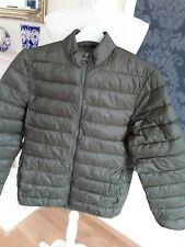 Barbour Quilted Jacket Size M Green Mens Jacket Fibre down
