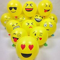 50Pcs Cute Emoji Face Balloons For Festival Birthday Party Xmas Decoration