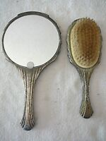 Vintage Godinger Silver Plate Dresser Set Brush & Comb, Needs Cleaning