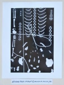 Woman Artist Photograph © Andrea Baldeck Gelatin Silver Print Skeleton Abstract
