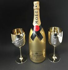 Moet Chandon Impérial Gold Champagner 1,5l Mag. Flasche 12% Vol + 2 Acryl Gläser